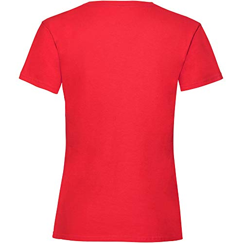 Fruit of the Loom Valueweight Mädchen-T-Shirt Gr. 5-6 Jahre, Vintage Heather Red