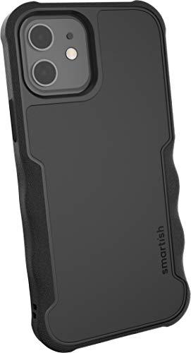 """Preisvergleich Produktbild Smartish Apple iPhone 12 / 12 Pro (6, 1"""") Gripzilla Case - Robust & Schützende Hülle [Grip Cover Bumper I Stabile Ecken] (Silk) - Black Tie Affair schwarz"""