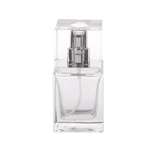 30ml Verre Clair Vide Bouteille De Parfum Rectangle Vaporisateur Parfum Vintage