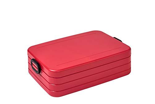 Mepal Take a Break Large Nordic Red – 1500 ml – Fiambrera con divisor – Ideal para Mealprep – Apto para lavavajillas ABS