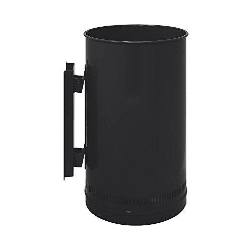 Gettacarte forato per esterni posizionamento a muro - Dimensioni totali: 25 x 45h cm - In metallo laccato Nero - Capienza 22 litri