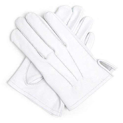 Masonic Leder-Handschuhe, weich, Weiß Gr. L, weiß