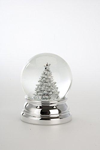 Weihnachtsdeko Schneekugel Christbaum groß, versilbert anlaufgeschützt