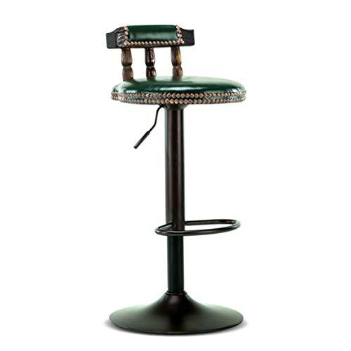 ZHJBD Meubelkruk/barkrukstoel met rugleuningstaaf Hoge kruk Draaibare bureaustoelen Verstelbare bureaustoelen 24 inch hoge stoel PU-leer
