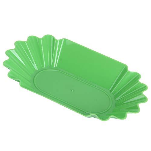 jadenzhou Plato para Granos de café, Apto para microondas, Grado alimenticio, 8.8x5.1x1.4in, Plato de exhibición de plástico PP, Reutilizable para Restaurante, Comedor(Green)