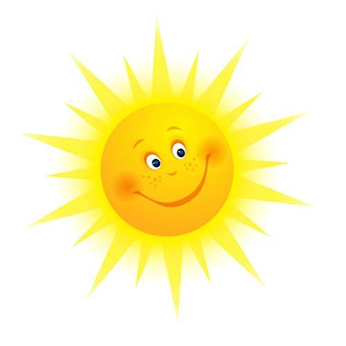 IMIKEYA Sonne Wandaufkleber Lächelnde Sonne Wandtattoo Wandsticker Wandaufkleber Wanddeko für Wohnzimmer Schlafzimmer Kinderzimmer
