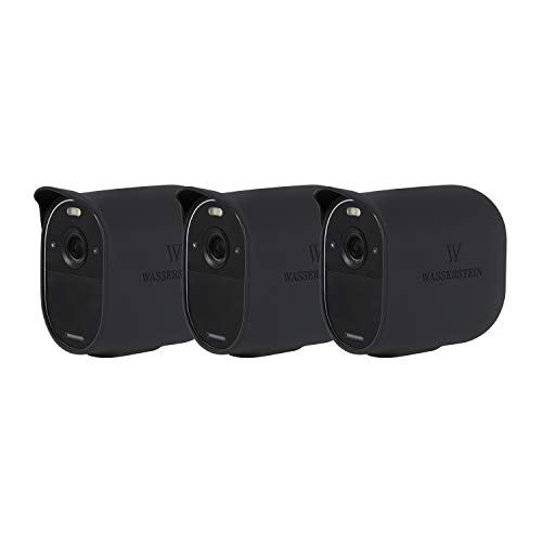 Wasserstein Protective Silicone Skins Compatible with Arlo Essential Spotlight Camera - (Black, 3 Pack) (NOT Compatible with Arlo Ultra/Ultra 2/Pro/Pro 2/Pro 3, HD, Floodlight)