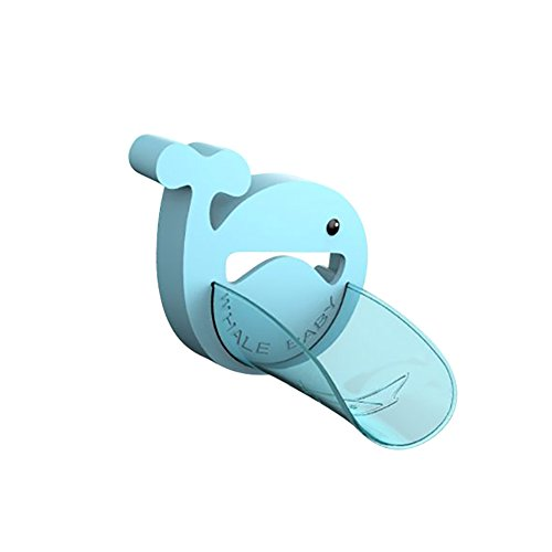 Per Faucet Handle Extender Set Cartoon Whale Extend Sink Handle &Faucet Spout For Toddlers Kids Hand-washing Solution Promote Independence-Blue,Spout Extender Only