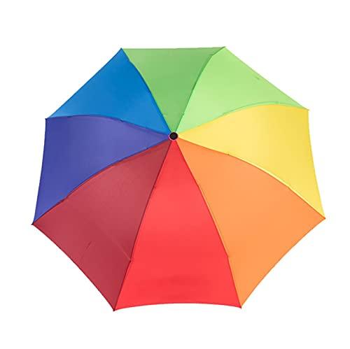 Paraguas De Arco Iris De Tamaño Grande para Las Mujeres Lindo A Prueba De Viento A Prueba De Viento Regalo Paraguas Mujer Paraguas Soleado Y Lluvioso (Color : 1)