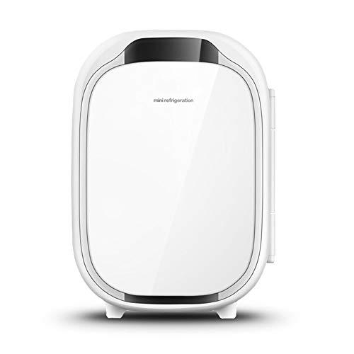 LFK Pequeño refrigerador 6L Mini Refrigerador Pequeño Refrigeración Pequeña Hogar Refrigerado Dormitorio for Estudiantes Cosméticos Coche Casa De Doble Uso Caja Fría Y Caliente