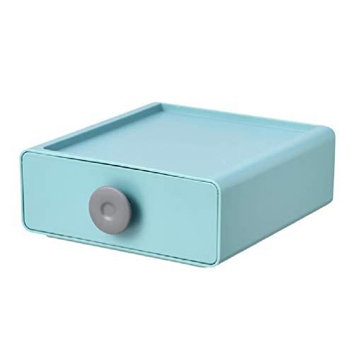 Leiouser - Caja de almacenamiento de estilo japonés apilable, organizador de escritorio para teléfono móvil, joyería y artículos de papelería