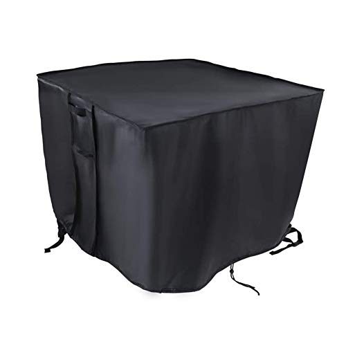 Outdoor Fire Pits Cover, Square Waterproof & Anti-UV 600D Heavy Duty Oxford Fabric Patio Brazier Covers for Indoor Outdoor Use, 4 (Size : 114x84x58CM)