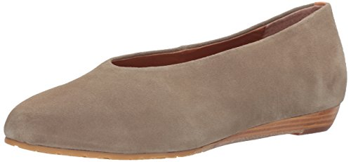 Gentle Souls by Kenneth Cole Women's Neptune Low Wedge Pump with Round Toe Suede Wedge Pump, sage, 6.5 M US