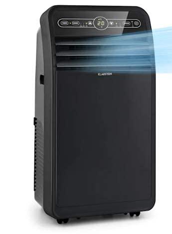 KLARSTEIN Metrobreeze New York Smart - Climatizzatore Portatile, 3in1: Climatizzatore/Deumidificatore/Ventilatore, Wi-Fi: AppControl, Classe A, 360 m³/h, fino a 59 m², 12000 BTU/3,5 kW, Nero