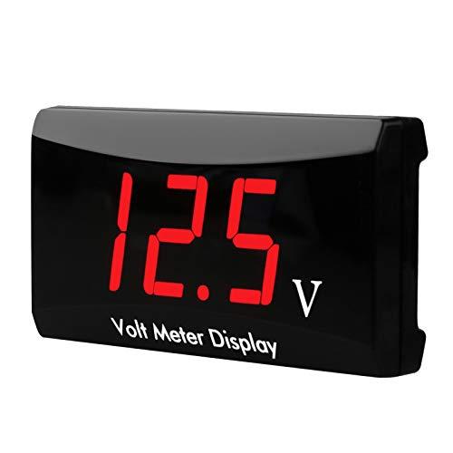 Car Digital Voltmeter, Waterproof DC 12V LED Digital Display Voltmeter for Car Motorcycle Voltage Volt Meter Gauge