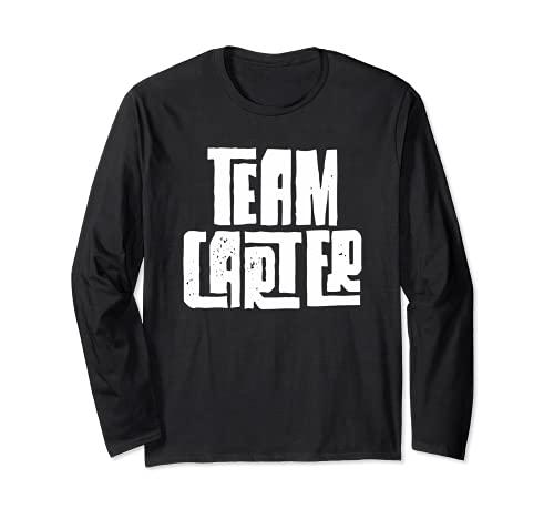 Team Carter Son Grandson Dad Husband Boyfriend Sports Group Long Sleeve...