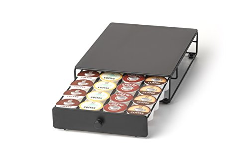 Under the Brewer Storage Drawer for KCup Packs Organize 24 KCup Pods KCup Holder will fit underneath all At Home Keurig Hot Brewers Saving Counter Space