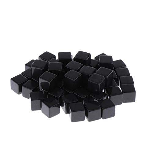 perfeclan 50x Negro Opaco en Blanco 6 Caras Dados D6 D&D RPG Juego de Fiesta Contando Cubos