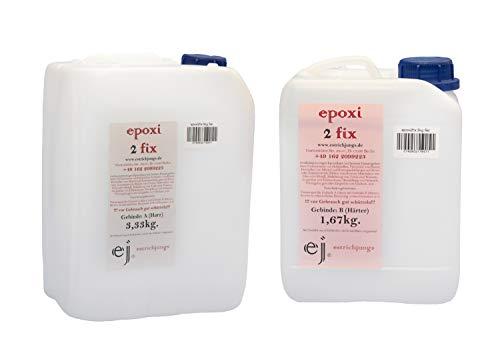 5 KG epoxi 2 fix - Epoxidharz, Rissharz, Giessharz, Laminierharz, Vergussmasse