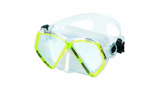 Mares Pirate '10 - Gafas de Buceo Unisex, Color Amarillo/Transparente, Talla Bx