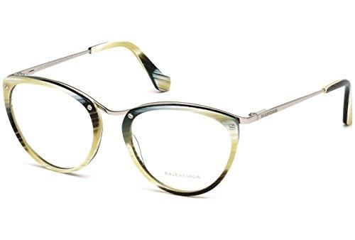 Balenciaga BA5046 024 -51 -17 -135 Balenciaga Brillengestelle BA5046 024 -51 -17 -135 Rechteckig Brillengestelle 51, Silber