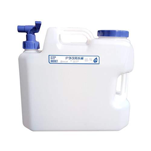 CHAMAIR Bidón de agua, contenedor de agua, cubo portátil, 10 L, con grifo y 2 asas, para camping o picnic