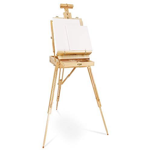 Artina - Caballete maletín de Pintura Madrid Trípode - con Paleta y maletín de Pintura - para lienzos de hasta 100 cm