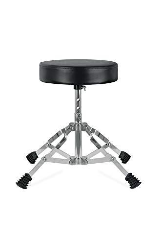 XDrum Schlagzeughocker Junior - Drumhocker für Kinder - 3-Fach Höhenverstellbar von 32cm-37cm - Stabile Gummifüße für perfekten Stand