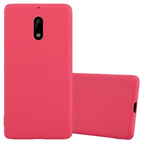 Cadorabo Funda para Nokia 6 en Candy Rojo - Cubierta Proteccíon de Silicona TPU Delgada e Flexible con Antichoque - Gel Case Cover Carcasa Ligera