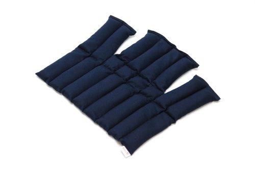 Sissel Compresse Chaude ou Froide au Graines de Lin mixte adulte Bleu Taille Unique (36 x 38 cm)