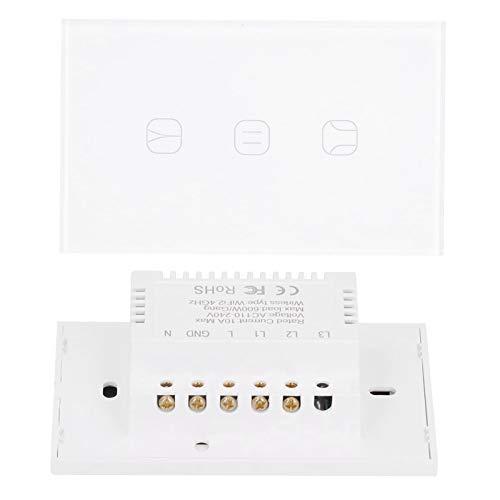 Germerse Interruptor de Cortina, Interruptor de Cortina Inteligente, Interruptor Inteligente WiFi Smart Durable para el hogar del Dormitorio