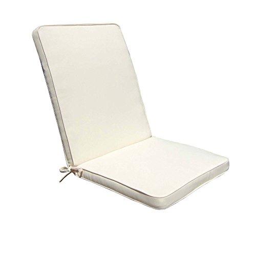Cuscino medio seduta schienale 95x44cm impermeabile sfoderabile ECRU' CU805666