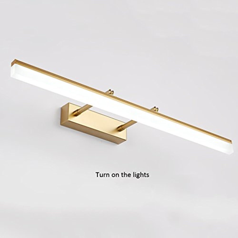 Die Erntezeit Spiegel-vorderes helles geführtes Badezimmer-Spiegel-Kabinett-Lichter Spiegel-Lichter   wasserdichtes Anti-fog skalierbare Lnge ( Farbe   Gold-40cm(15.7in) )