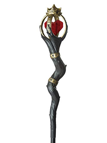 California Costumes Women's Queen of Hearts Staff, Black/RED/Gold, One Size