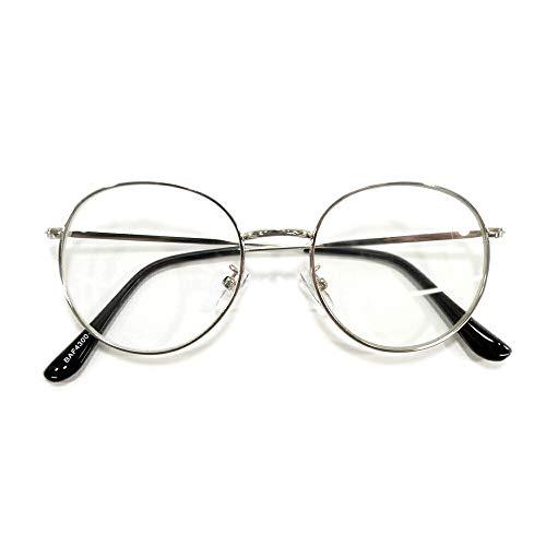 MERRY PLEASURE (メリープレジャー) 曇らない PCメガネ ブルーライトカット 伊達メガネ 丸メガネ ボストン パソコン用 目を保護する メンズ レディース