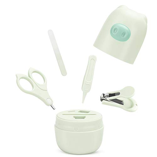 Color You 4in1 Pflege-Set für Fingernägel und Fußnägel mit Nagelknipser, Nagelschere, Nagelfeile und Pinzette für Kinder und Neugeborene in süßer Bären Geschenk-Verpackung