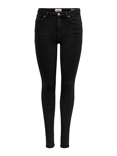 Only Onlpower Mid Push Up SK BB Rea3659 Jeans Skinny, Nero (Black Black), 34 /L34 (Taglia Produttore: X-Small) Donna