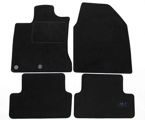 J&J AUTOMOTIVE | Tapis de Sol Noir Velours Compatible avec Nissan Qashqai 2007-2013 4 pcs