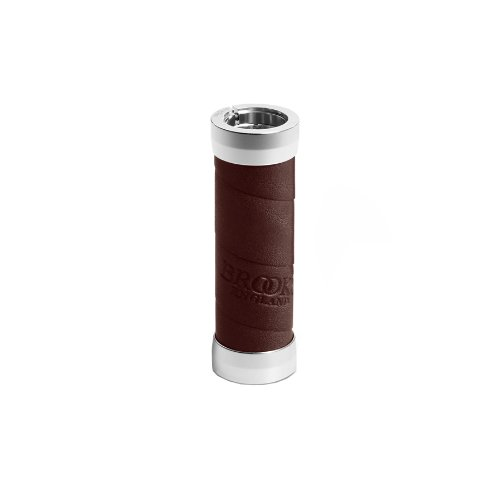Brooks Slender Leather Grips (100mm) - Antic Brown - Manopla