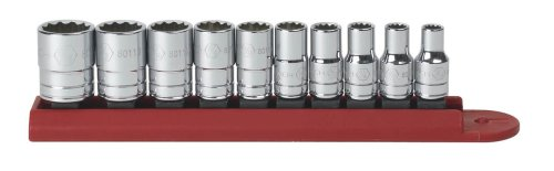 "GEARWRENCH 10 Pc. 1/4"" Drive 12 Pt. Standard Socket Set, SAE - 80307D"
