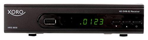 Xoro HRS 8658 digitaler Satelliten-Receiver (mit LAN Anschluss, HDTV, DVB-S2, HDMI, SCART, USB 2.0, Unicable) schwarz