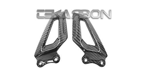 Tekarbon, Replacement for Heel Plates, BMW S1000RR (2019-2021), Carbon Fiber, 2x2 Twill Weave