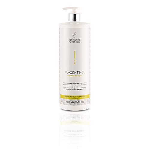Profesional Cosmetics Placentinol champú antigrasa 3 en 1-1000 ml.