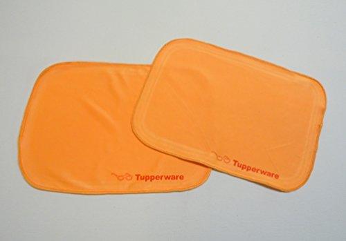 TUPPERWARE FaserPro Durchblick (2) orange T18 Brillenputztuch Putztuch Brille Handy
