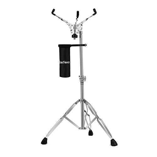 Snare Drum Stand with Drum Sticks Holder, Starfavor Double Braced Adjustable Practice Pad Stand Extended Height 25-40 Inches for 10-16 Inches Drum Pad, Snare Drum