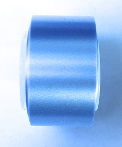 CaPiSo® 10m Polyband 25mm Ringelband Kräuselband Geschenkband Dekoband Spleißer Glanzband Schleifenband Splissband Kartengestaltung Basteln (07 Hellblau)