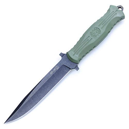 KIZLYAR Messer (HP-18) Japanische Stahlklinge, Ergonomischer Arutschfester Griff, Scheide Leder - Universalmesser Zum Wandern.