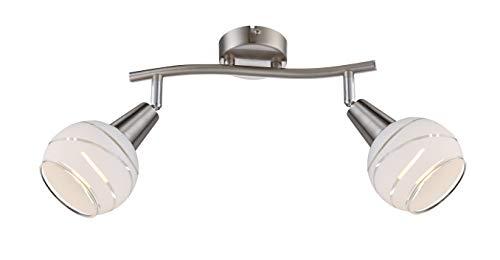 Luxe plafondlamp slaap gasten kamer glazen lamp spotlight zwenkbaar Globo 54341-2O