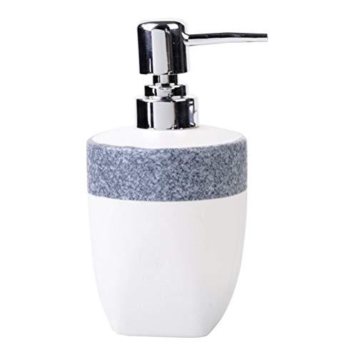 TOPBATHY Distributeur de savon liquide rechargeable à pompe 240 ml pour savon, shampooing, lotion pour le corps, lavage du visage Bleu