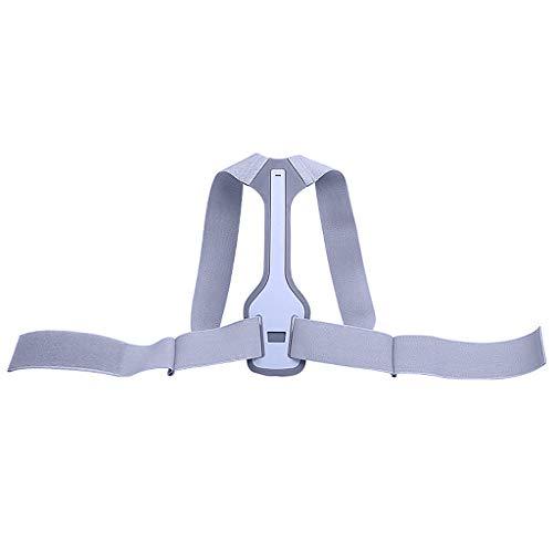 Hellery Hållningskorrigerare för kvinnor män, ryggstöd, bekväm hållningstränare för ryggradsjustering och hållningsstöd, ryggplattång (universal) - M